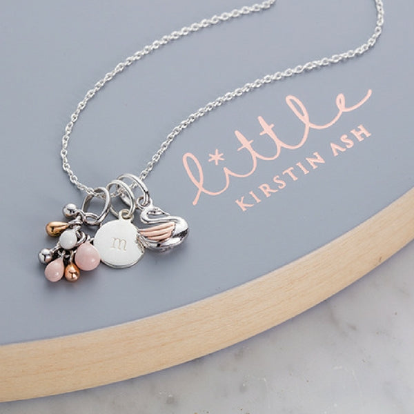 Little Kirstin Ash Kids Jewellery Circle Letter Charm (az)