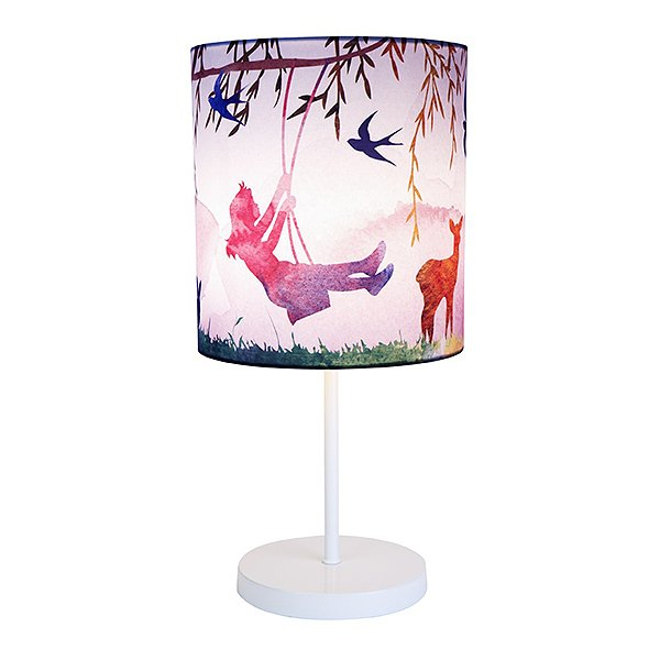 Little Girl Print Table Lamp