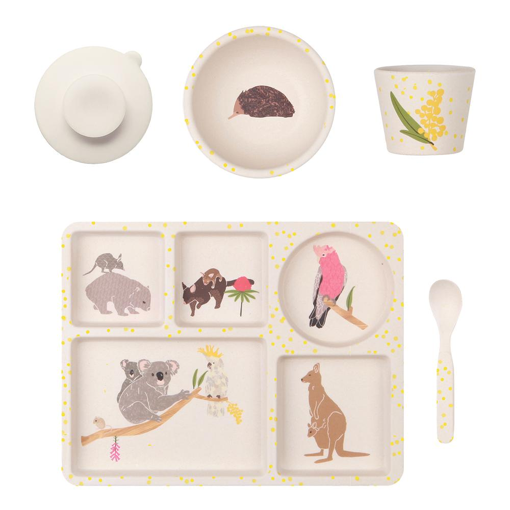 Love Mae Bamboo Divided Plate Set - Australiana