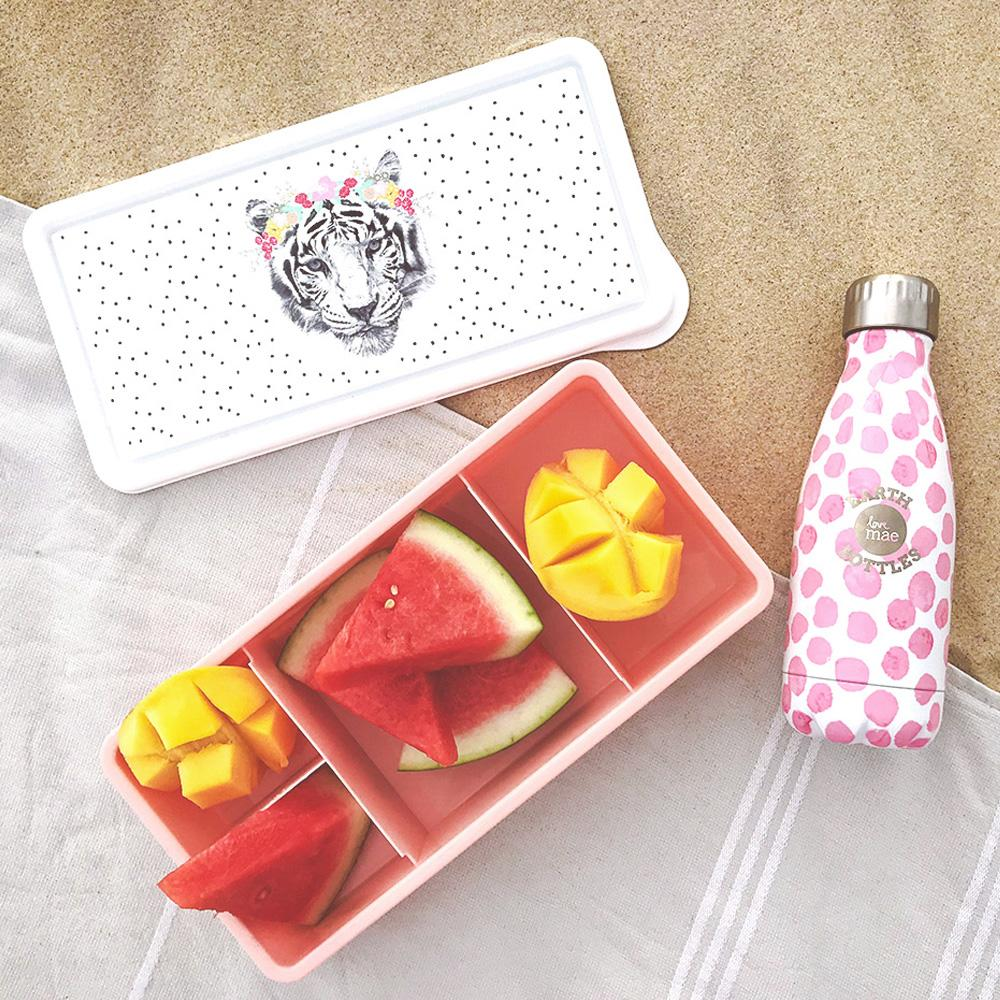 Love Mae Kids Lunch box  Floral Tiger