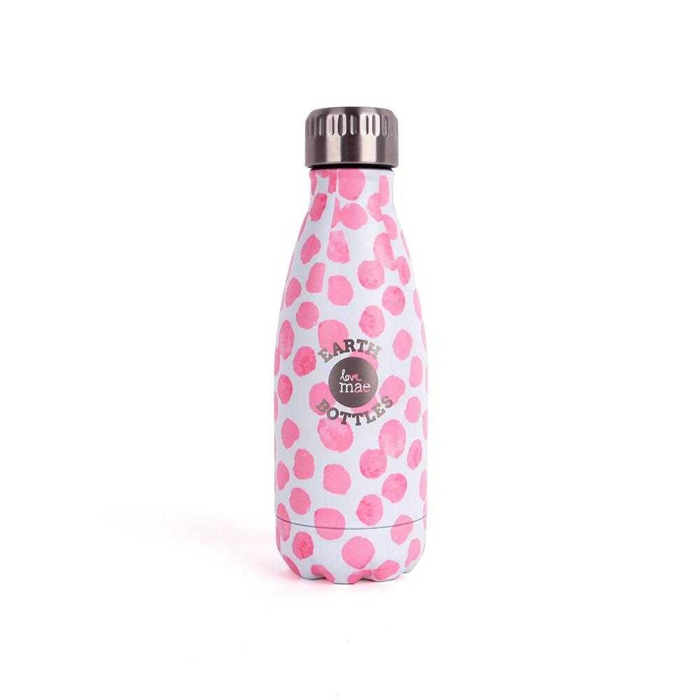Love Mae x Earth Bottles Kids Drink Bottle  Pink Dots