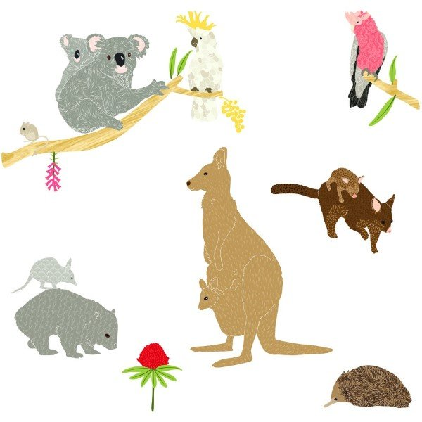 Love Mae Fabric Wall Stickers Australiana