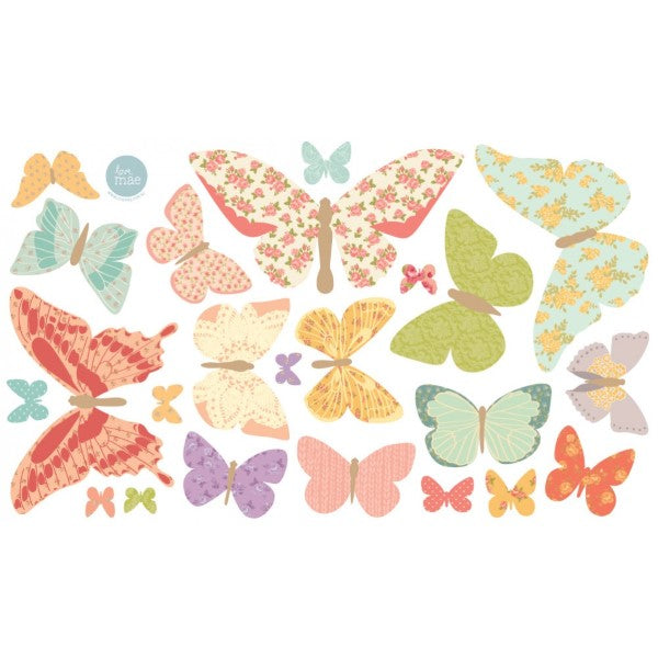 Love Mae Fabric Wall Stickers  Butterflies