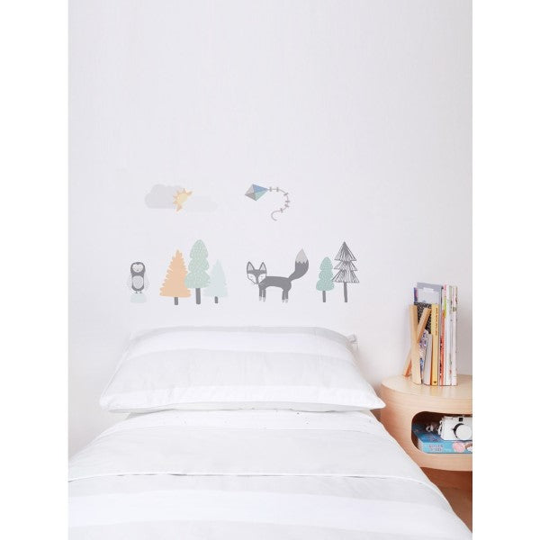 Love Mae Fabric Wall Stickers Fox and Friends