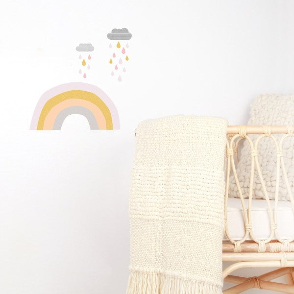 Love Mae Fabric Wall Stickers Raindrops and Rainbows