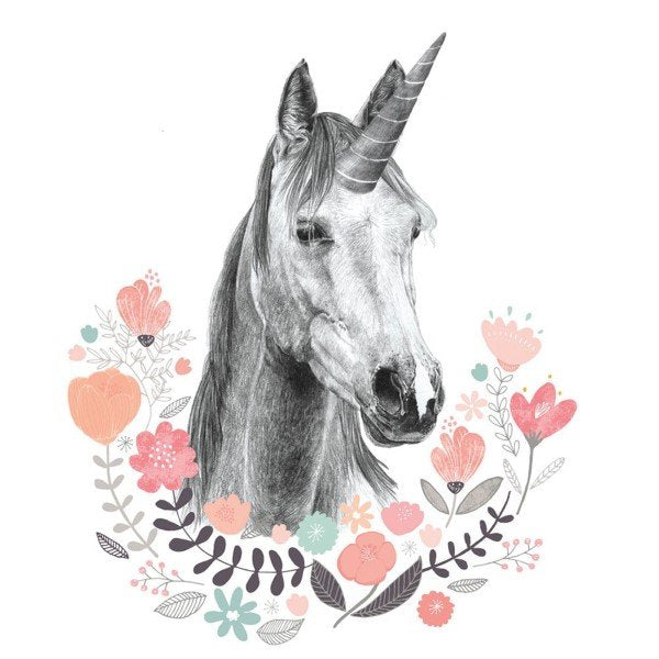 Love Mae Fabric Wall Stickers Unicorn