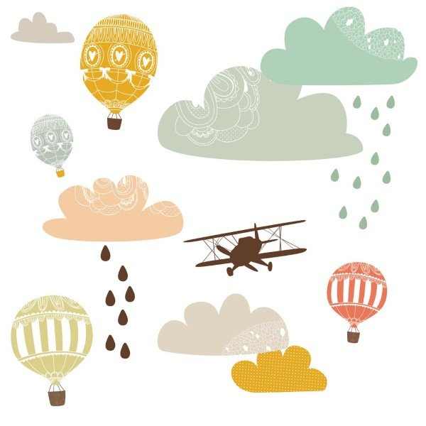Love Mae Fabric Wall Stickers Up Up & Away