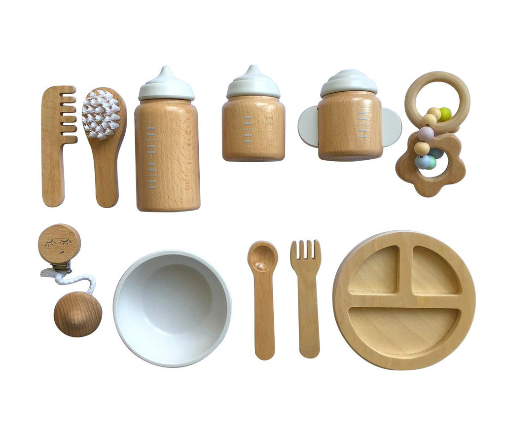 Make Me Iconic  Wooden Baby Doll Accessories Set