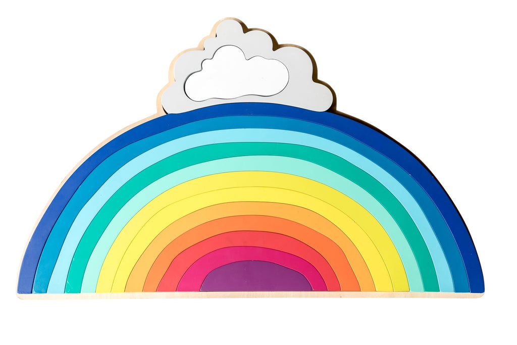 Make Me Iconic Wooden Rainbow Puzzle