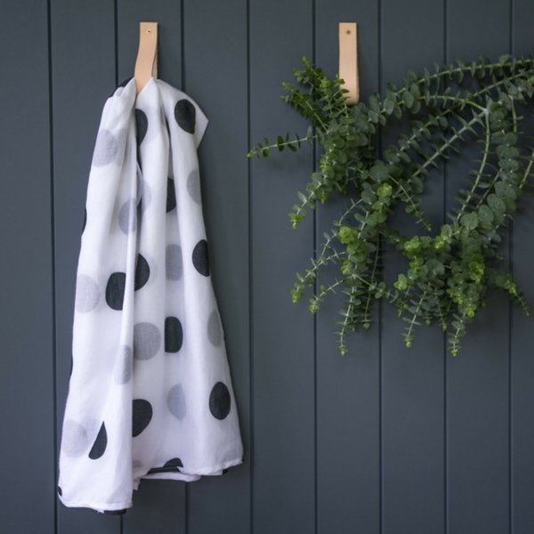 Mama Maya Organic Cotton Muslin Wrap Black Dot