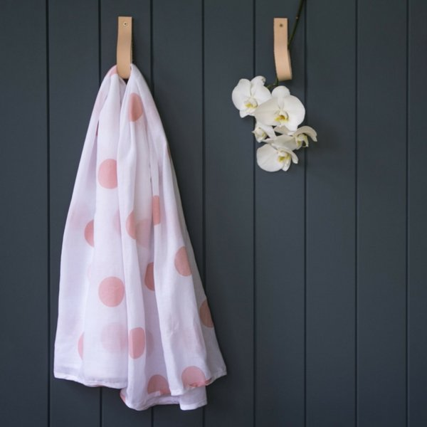 Mama Maya Organic Cotton Muslin Baby Swaddle Wrap  Pink Dot