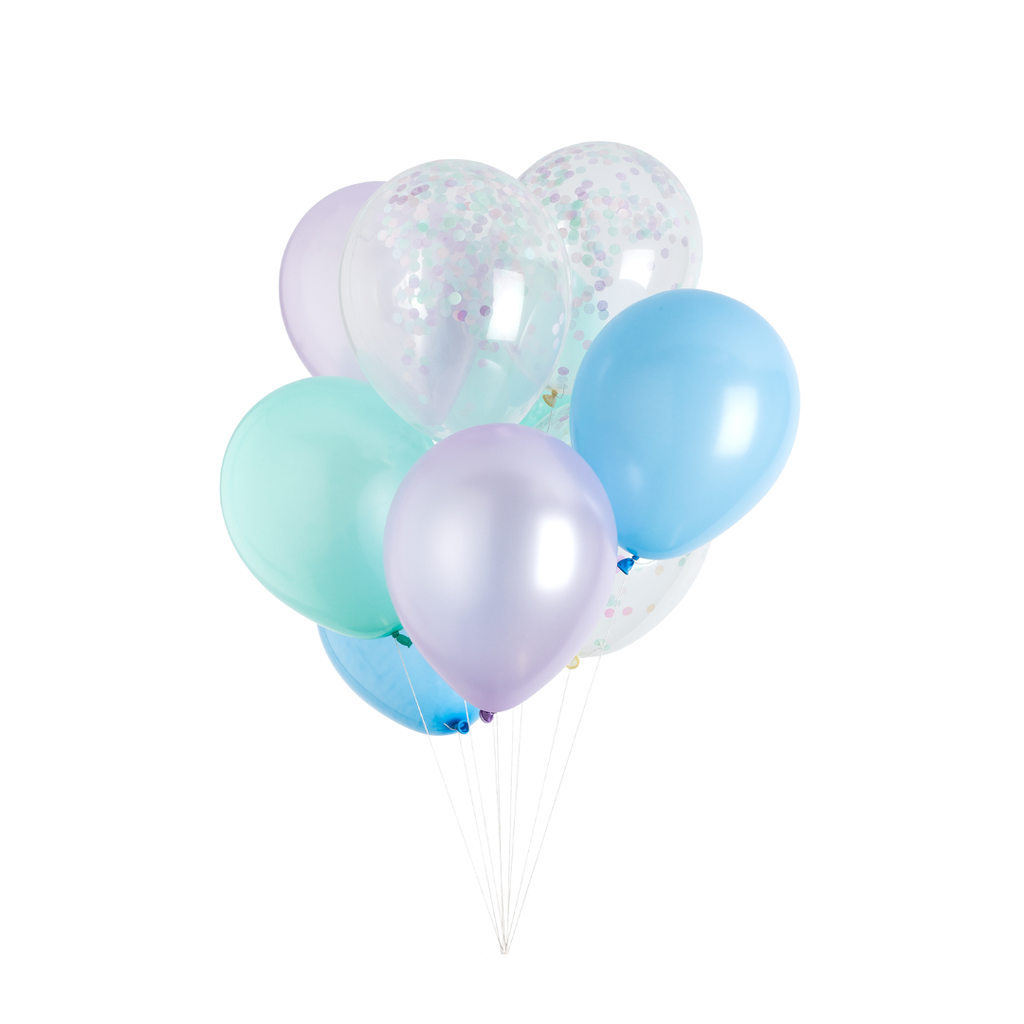 Studio Pep - Mermaid Classic and Confetti Balloons 12 Pack