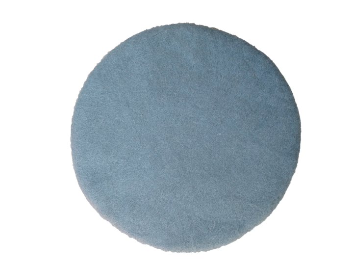 Muskhane handmade kids felted chakati floor cushion - Mineral Blue