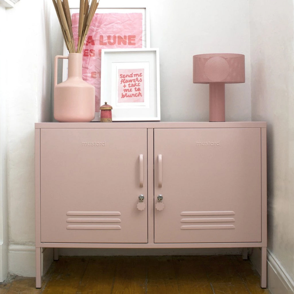Mustard Made Metal Lockers - The Lowdown in Blush