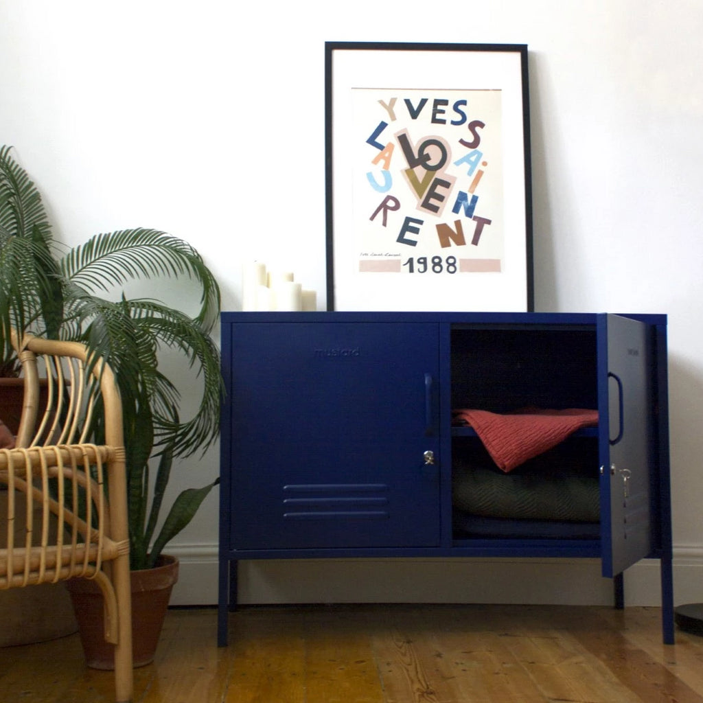 Mustard Made Metal Lockers - The Lowdown in Navy