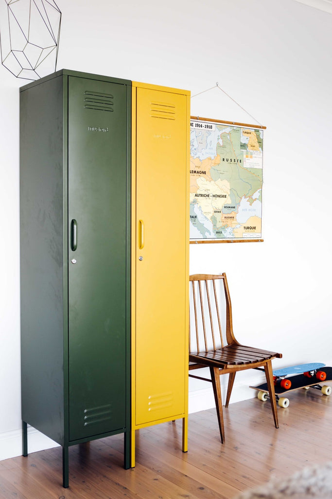 Mustard Made Metal Lockers - The Skinny in Olive