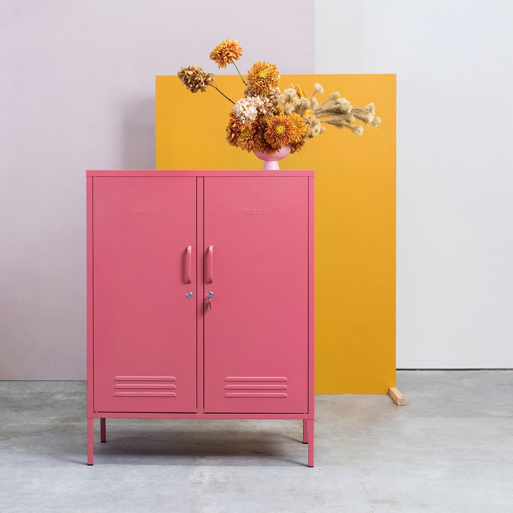 Mustard Made Metal Lockers - The Midi in Mustard