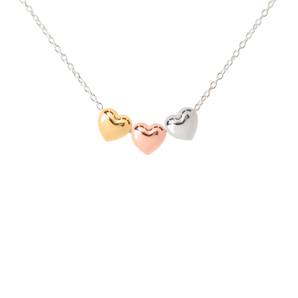 My Little Silver Kids Jewellery - Three Hearts Necklace
