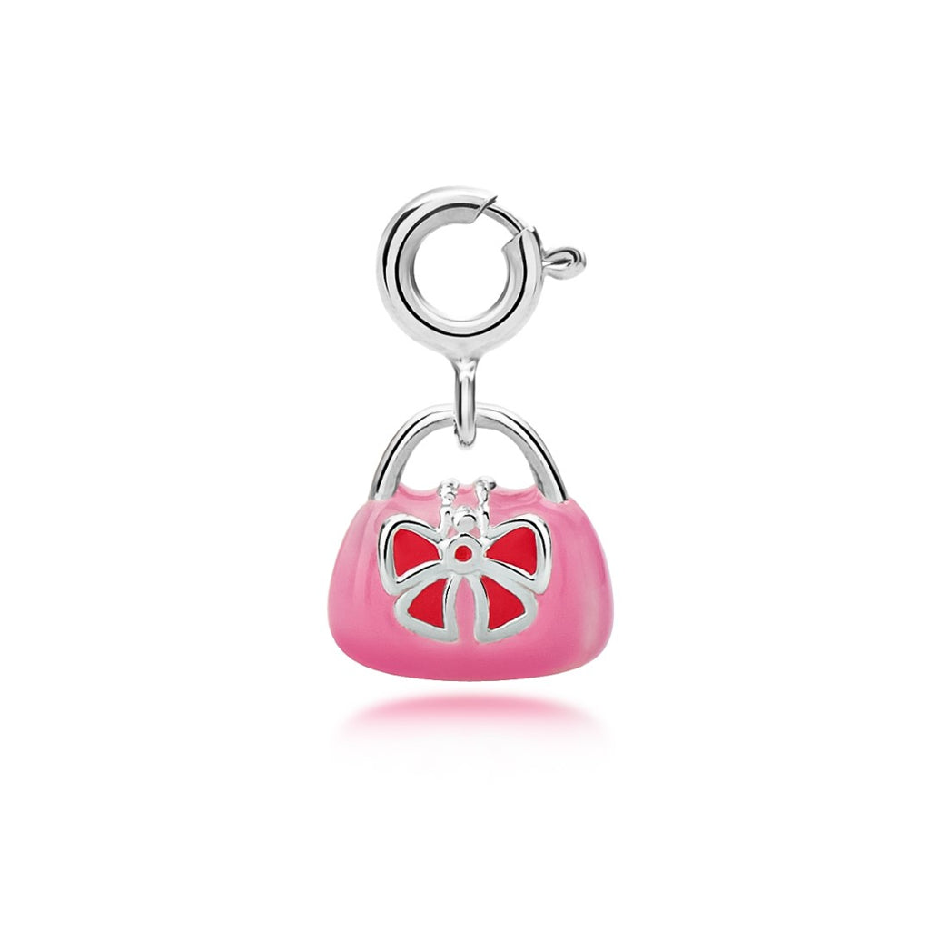 My Little Silver Kids Jewellery - Pink Handbag Charm