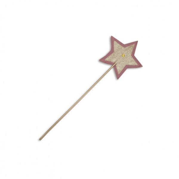 Numero 74 Glitter Star Wand Silver and Dusty Pink