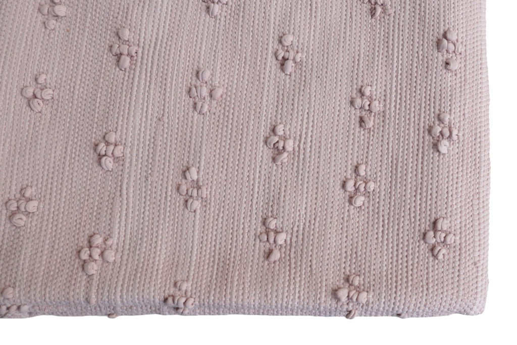 Naco Handmade Liz Cotton Kids Rug – Pastel Powder Rose