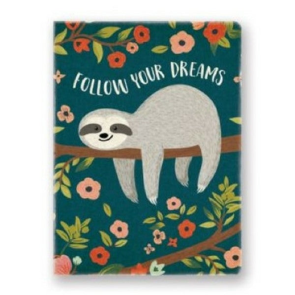 Kids Stationery  Notepad or Journal  Sloth Dreams