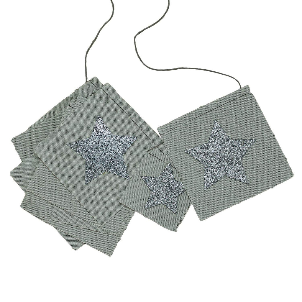 Numero 74 Star Fancy Garland - Silver Grey