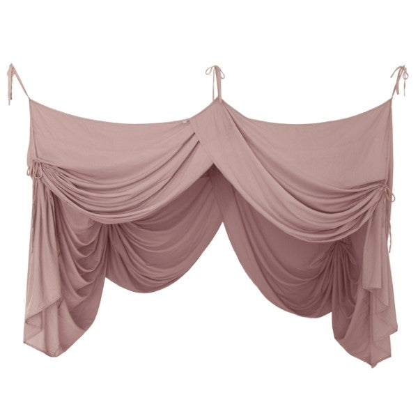 Numero 74 Canopy Single Bed Drape Dusty Pink