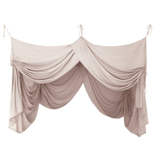 Numero 74 Canopy Single Bed Drape Powder Pink