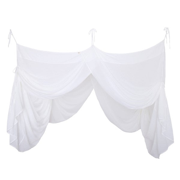 Numero 74 Canopy Single Bed Drape White