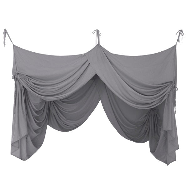 Numero 74 Canopy Single Bed Drape Stone Grey