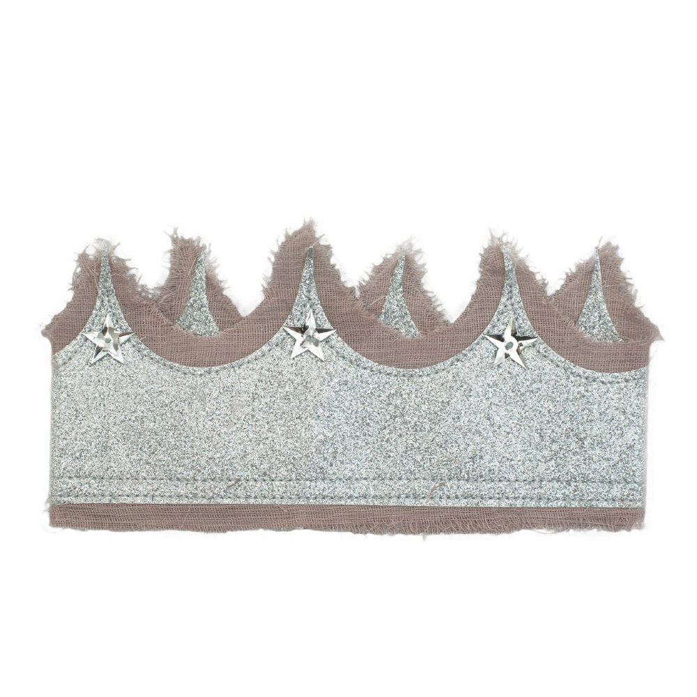 Numero 74 Glitter Crown Dusty Pink and Silver