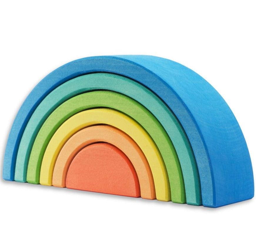 Ocamora Wooden Rainbow - 6 Piece Blue