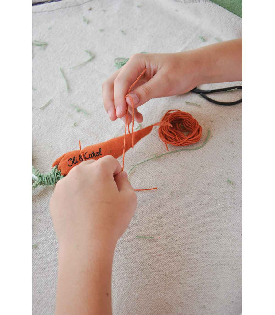 Oli and Carol Kids Sewing Kits - Cathy the Carrot