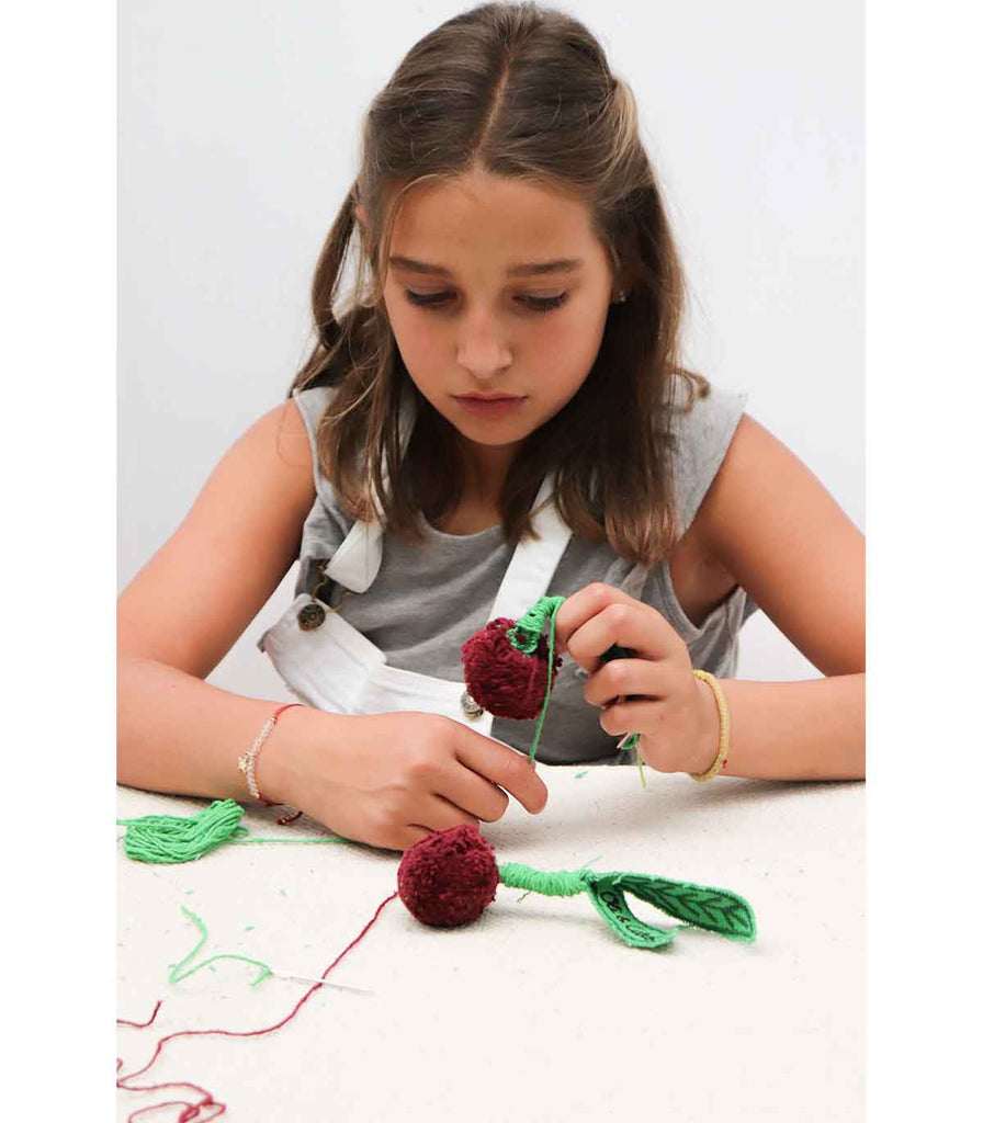 Oli and Carol Kids Sewing Kits - Merry The Cherry