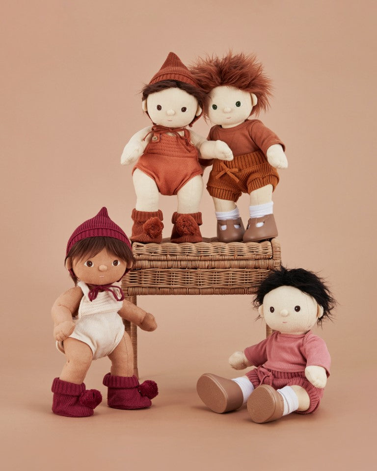 Olli Ella - Dinkum Doll Clothes Knit Set in Plum