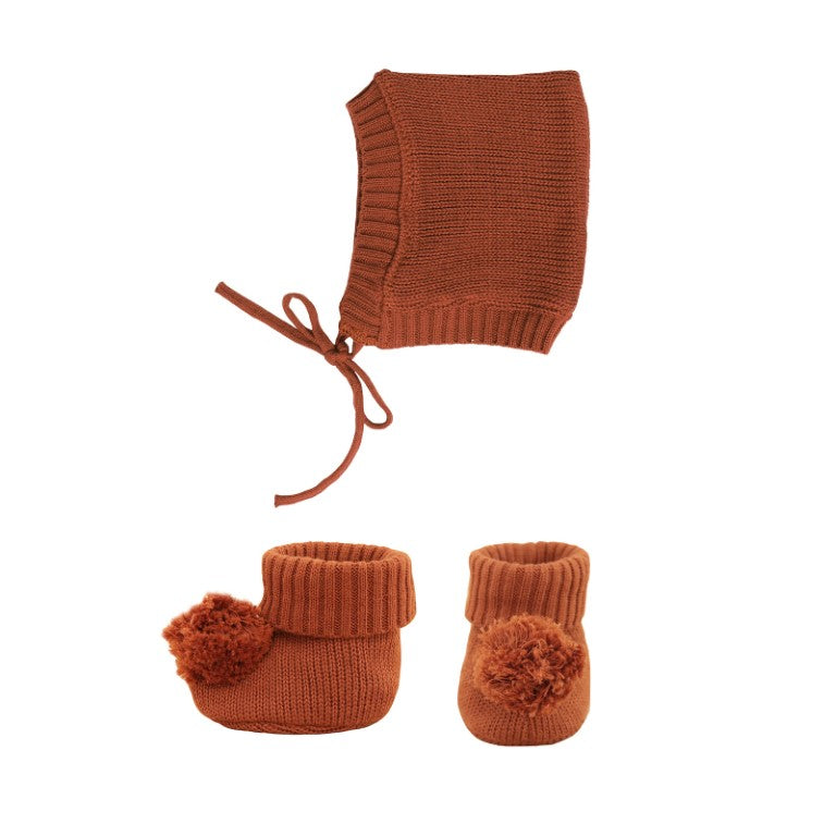Olli Ella - Dinkum Doll Clothes Knit Set in Umber