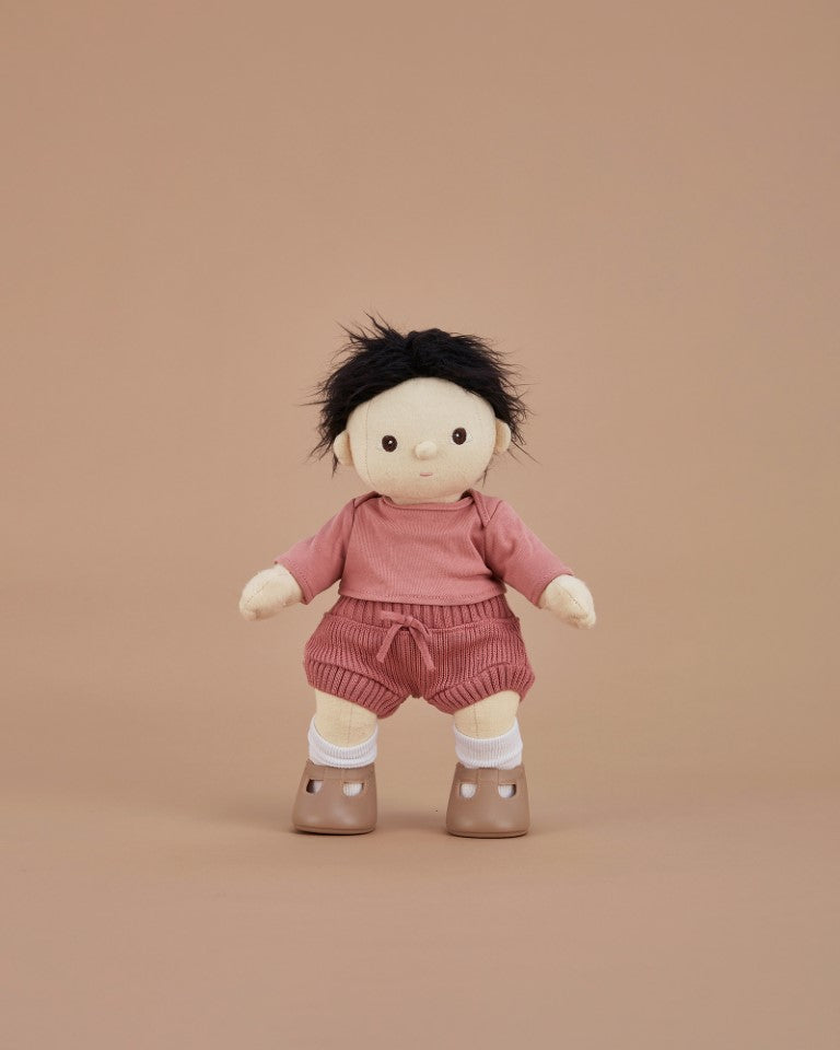 Olli Ella - Dinkum Doll Clothes Snuggly Set in Berry