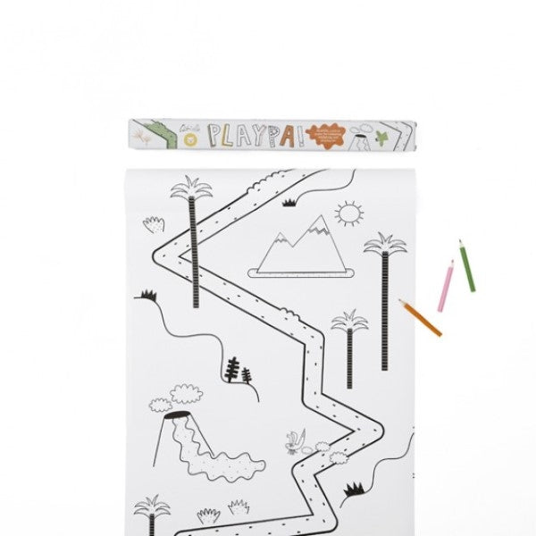 Playpa Jungle Design Paper Roll