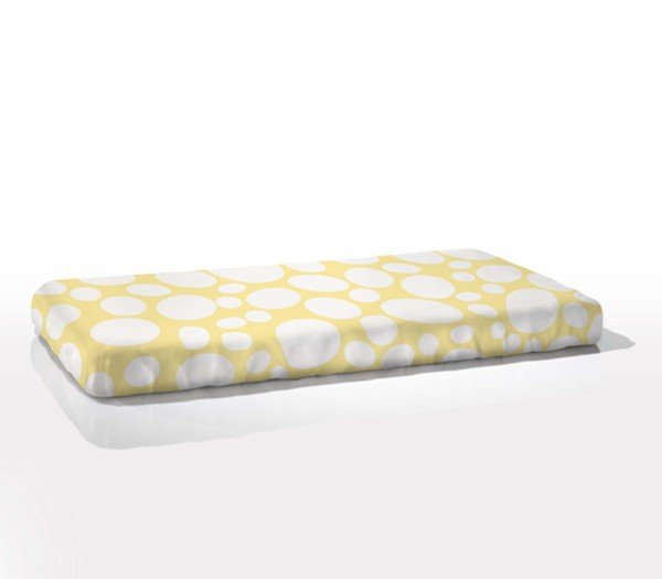 Nook Sleep Organic Cotton Fitted Cot Sheet  Riverbed Daffodil Yellow