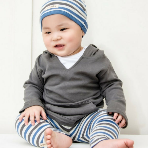 Loved Baby Organic Cotton Leggings  Sage Stripe