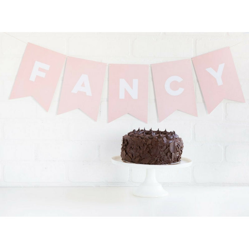 Kids Party Pink Letter Party Banner