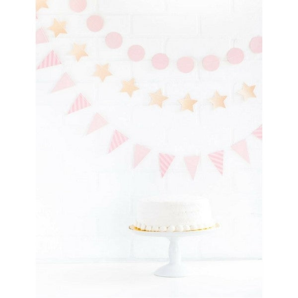 Pink Star and Bunting Mini Party Banner Set