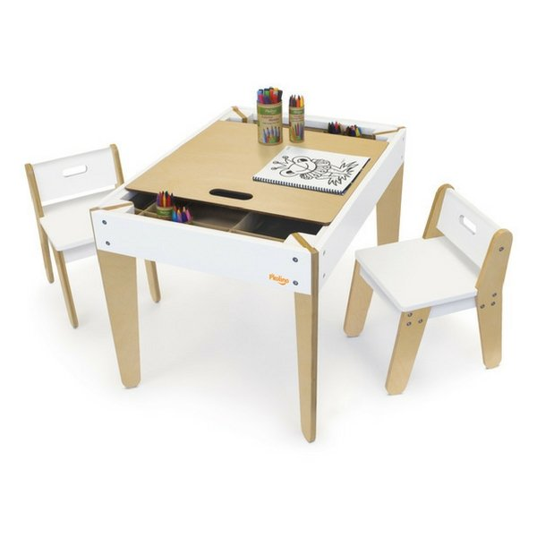 P'kolino Little Modern Kids Activity Table And Chairs
