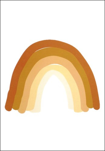 Rainbow Kids Wall Art Print  Orange A4
