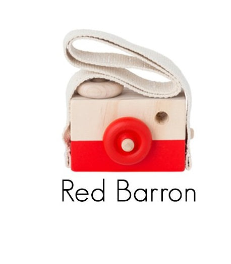 Behind The Trees Wooden Toy Camera  Red Barron