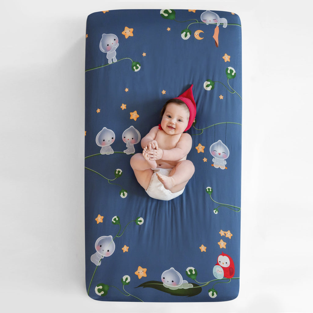 Rookie Humans Fitted Cot Sheet  Magic Forest