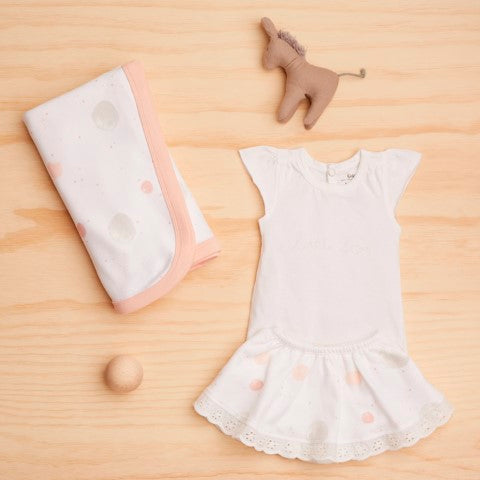 Sapling Organic Baby Clothes   Twinkle Grey Star Skirt With Bloomers