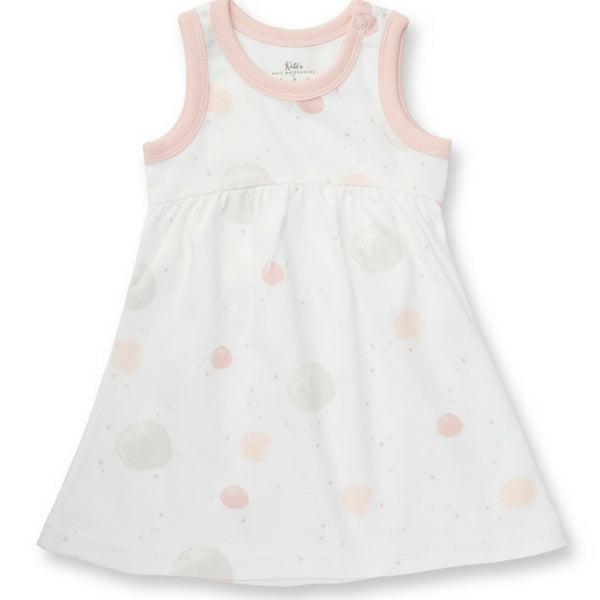 Sapling Organic Baby Clothes   Pink Blushing Orbit Dress With Bloomers