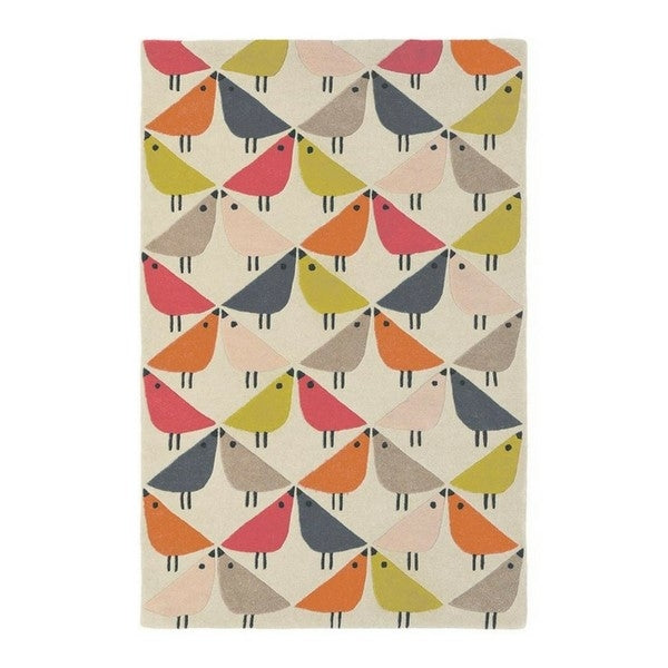 Scion Birds Rug, orange
